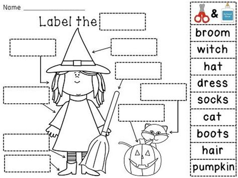 halloween cut  paste printables festival collections