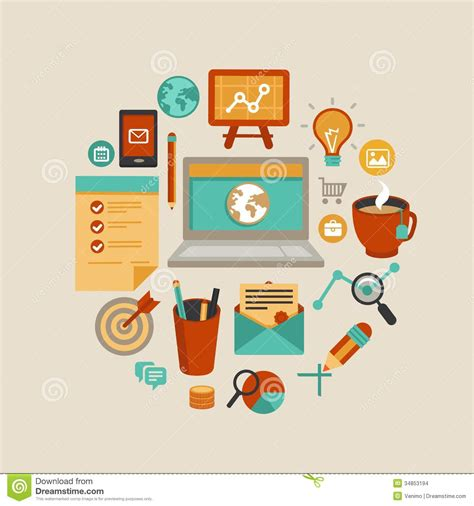 design freelance work vector freelance work concept stock vector illustration