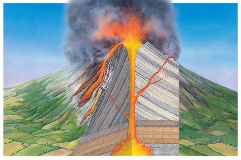 stratovolcano diagram stratovolcano structure photograph by gary hincks