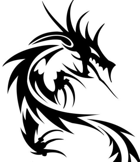 free black china dragon paper cut pattern vector 02 titanui