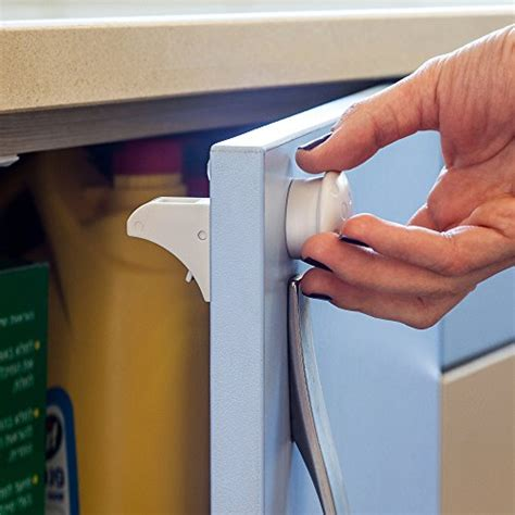 child proof cabinet locks without screws purple safety 4 magnetic baby locks 1 key for cabinets