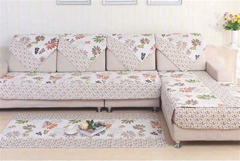 leaf pattern sofa hot sale polyester pastoral style sofa cover leaf pattern