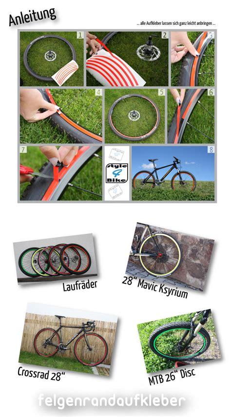 Fahrrad Aufkleber Auf Rechnung by Felgenrandaufkleber F 252 R Mountainbike In Neon Style4bike De