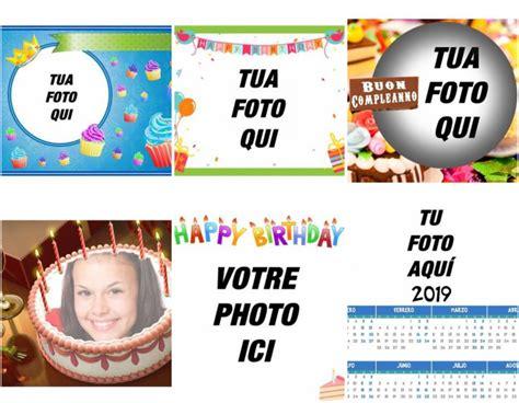 cornici per compleanno cartoline auguri di compleanno fotoeffetti