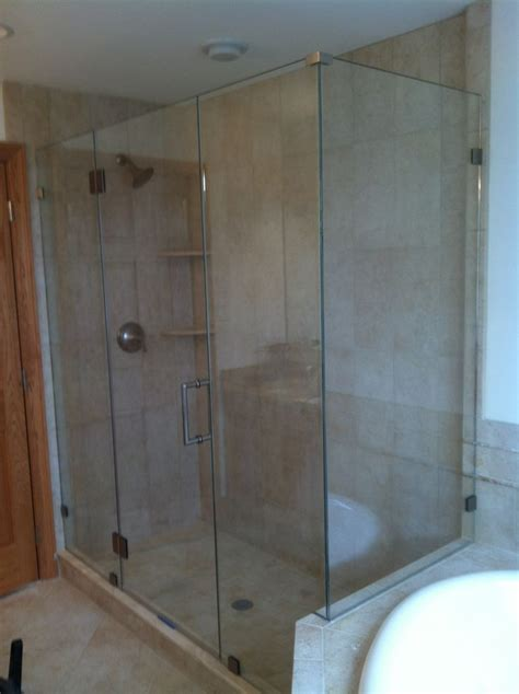 Frameless Shower Door Glass Thickness Shown Is 3 8 Thick Tempered Glass Door Hinged To 189 Tempered Glass Panel Why The Difference In