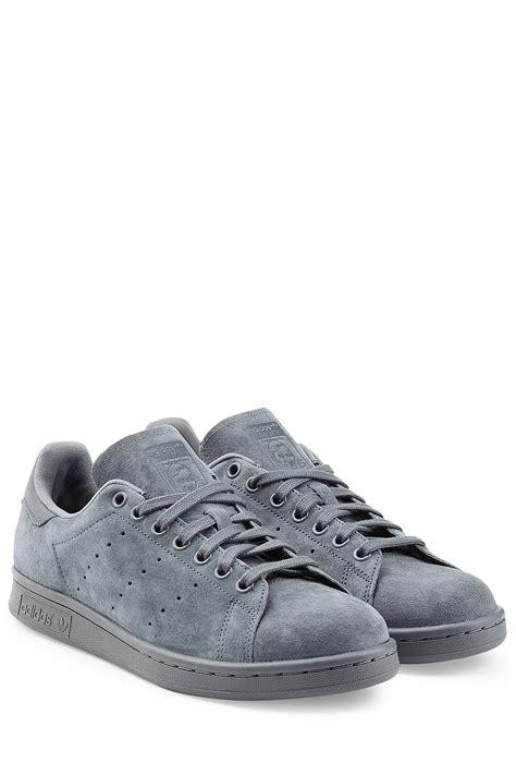 adidas suede sneakers adidas originals stan smith suede sneakers blue in gray