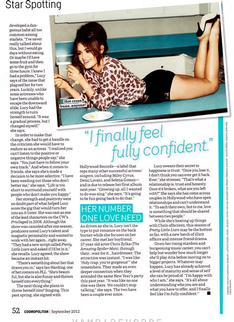 cosmopolitan article lucy hale in cosmopolitan magazine september 2012 issue