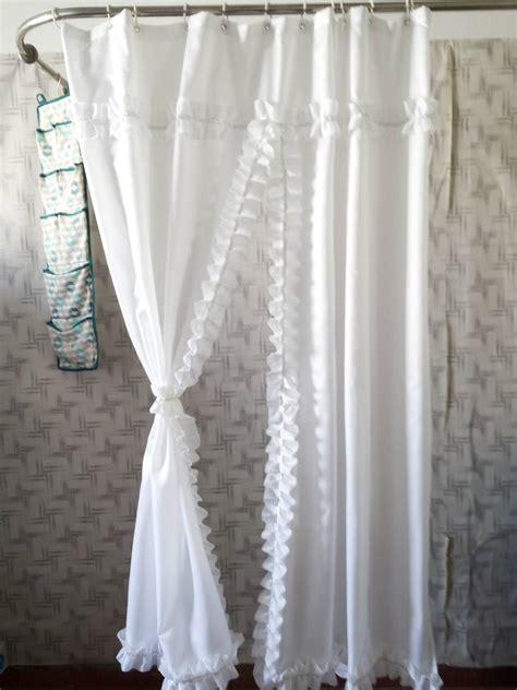 curtain skirt 180cmx180cm pure white falbala shower curtain waterproof