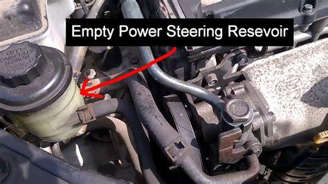 Hyundai Power Steering Fluid by Empty Power Steering Fluid Reservoir