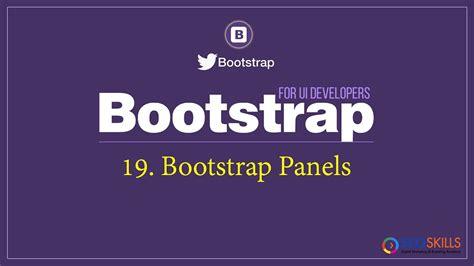 bootstrap tutorial panel bootstrap panel tutorial in telugu
