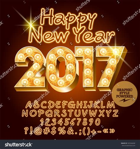 new year greetings symbols vector light happy new year 2017 stock vector 503546608