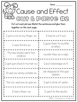 cause and effect printable card games cause effect practice 3 printable worksheets by mrs