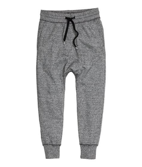 Sweatpant H M Two Tone Black Grey Keren Murah Bagus Baru h m sweatpants in gray for lyst