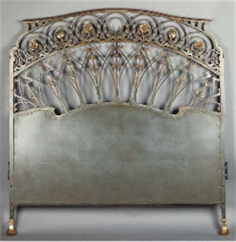 headboard art an art nouveau patinated and gilt bronze headboard