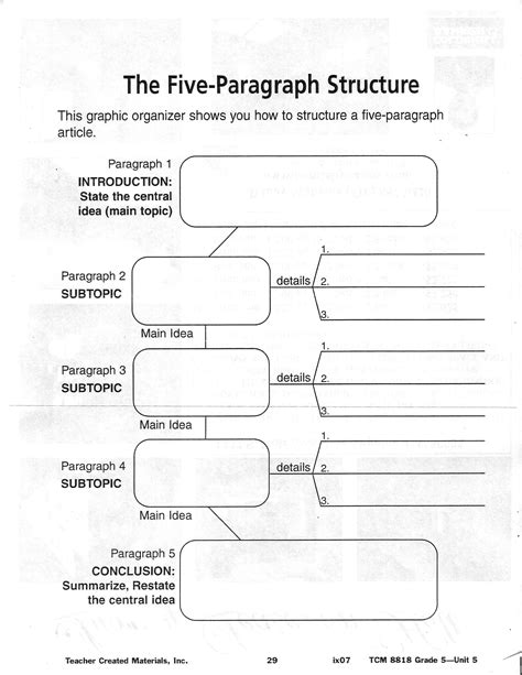 Essay Writing Graphic Organizers by Documents Mr S Classroom