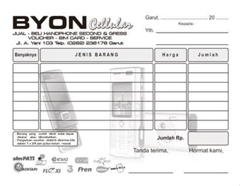 format nota penjualan download nota download desain template desain grafis