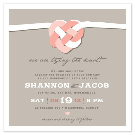 the knot wedding invitation wording wedding invitations tying the celtic knot at minted