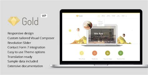 gold themes wordpress gold responsive business wordpress theme jogjafile