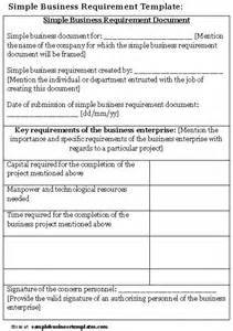 Business Requirement Templates by Simple Business Requirement Template Sle Business