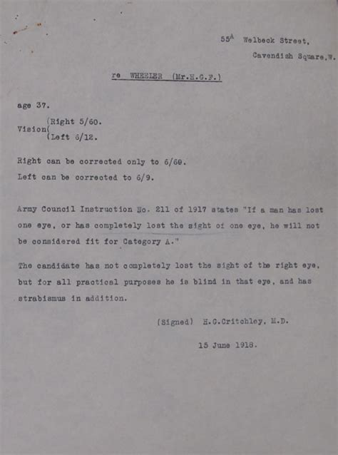 Army Appeal Letter Exle World War Service Tribunals The National Archives