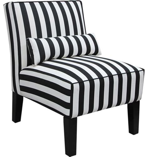 armless armchairs skyline furniture canopy stripe armless upholstered chair black and white