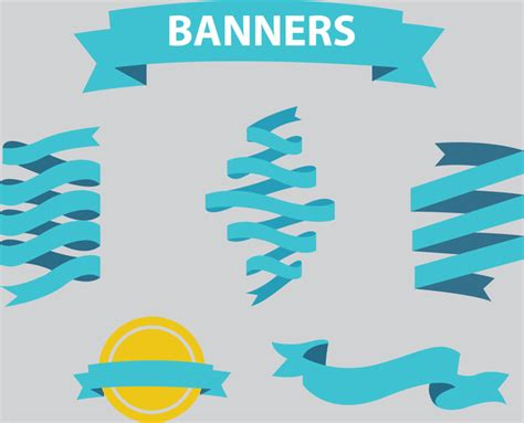 free ribbon vector banner set in ai eps cdr format free illustrator ribbon vector art banner free vector