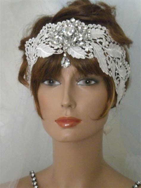 how to make 1920s headpieces 1920 s headpiece flapper headband vintage ivory lace ev