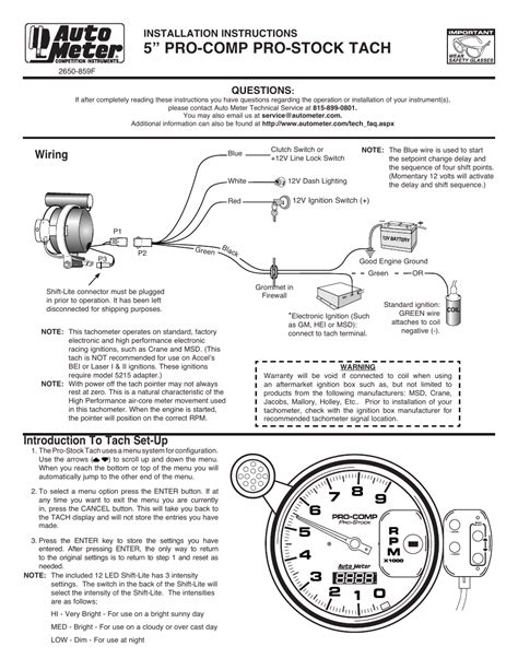 autometer sport comp tach wiring diagram scotts l1742