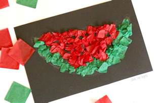 Easy Tissue Paper Crafts - easy tissue paper watermelon craft school time snippets