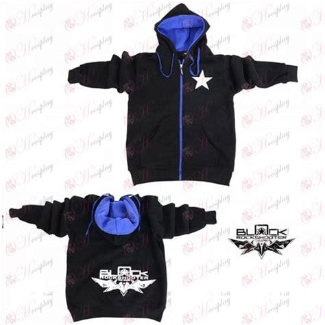 Sweater Hoodie Zipper Chain 2 lack rock shooter accessories shooter logo zipper sweater