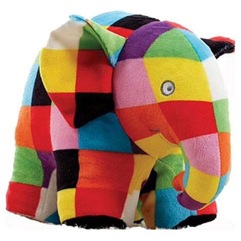 Elmer Patchwork Elephant - elmer the patchwork elephant 18cm toys teddy