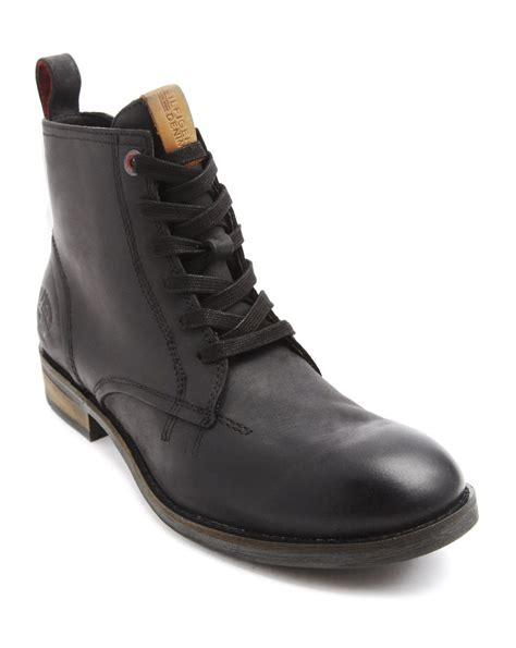 hilfiger s boots hilfiger darren black zipped boots in black for