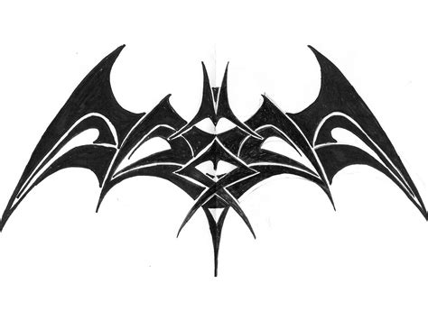 tribal bat tattoo batman symbol designs ideas and meaning tattoos