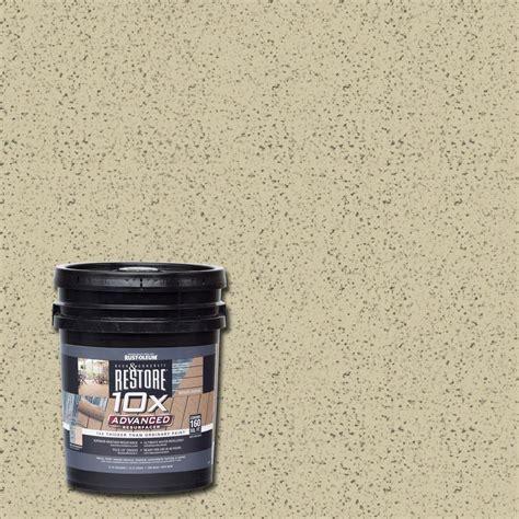 restore 10x colors rust oleum restore 4 gal 10x advanced deck and