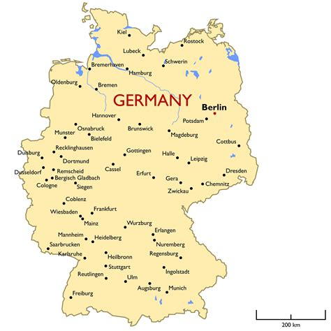 germany maps germany map map germany travel maps and major tourist