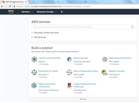 aws ec2 console aws creating a machine with ec2 code steps