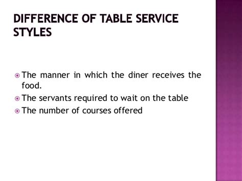Table Service by Table Service