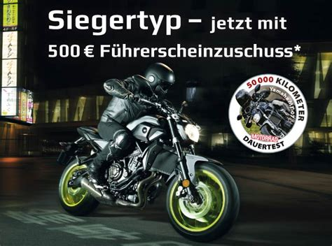 Motorrad Führerschein Zuschuss by Siegertyp Jetzt Mit 500 F 252 Hrerscheinzuschuss