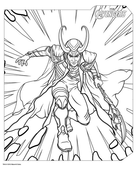 avengers coloring pages loki free coloring pages of fairytail loki