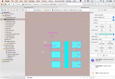 xcode layout grid maze games with swift and sprite kit video tutorial