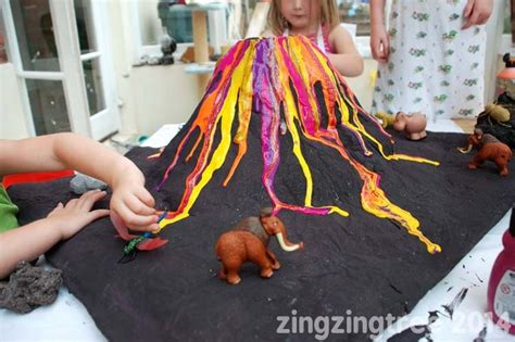 How To Make Paper Mache Volcano - papier mache volcano with storage