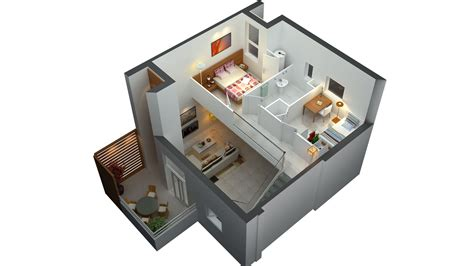 house design layout 3d 3d floor plan small house plans pinterest 3d