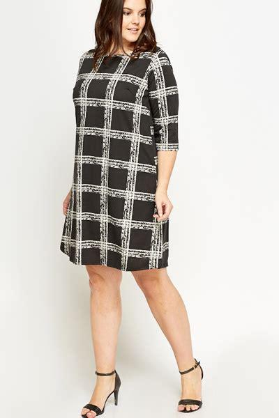 Check Dress black grid check shift dress just 163 5