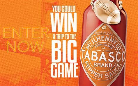 Big Prize Giveaway - tabasco com big game giveaway sweepstakes sweepstakesbible