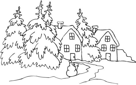 coloring pages winter landscape winter coloring page print winter pictures to color at