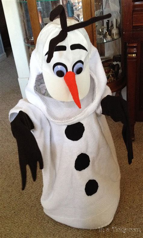 an olaf dress up costume to say quot awwww quot over ruffles and who wants to build a snowman in a tickle