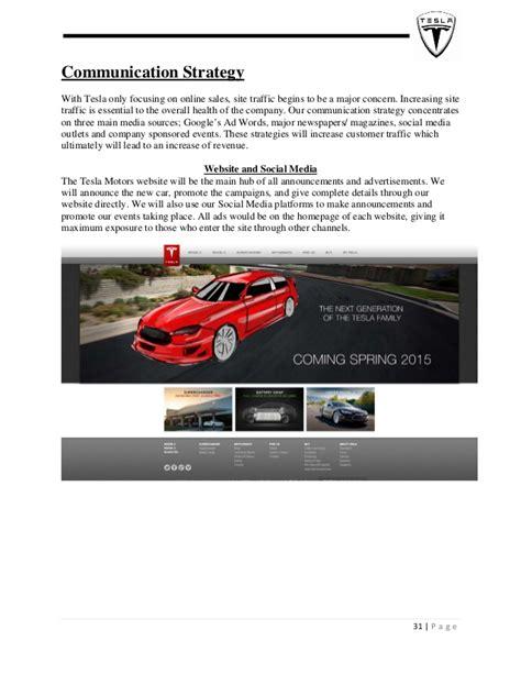 Tesla Communication Tesla Marketing Plan