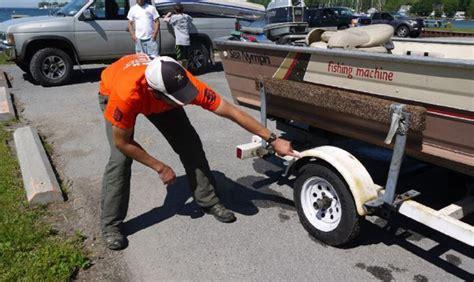 boat trailer inspection ny ny sea grant nysg great lakes aquatic invasive species