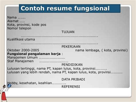contoh layout fungsional kombis penulisan resume