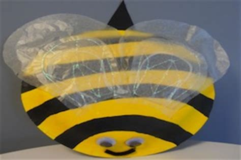Bumble Bee Paper Plate Craft - critter crafts insect activities bug crafts for